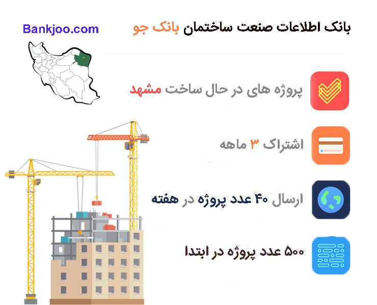 پروژه های در حال ساخت مشهد