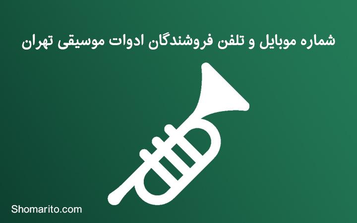 شماره موبایل و تلفن فروشندگان ادوات موسیقی تهران