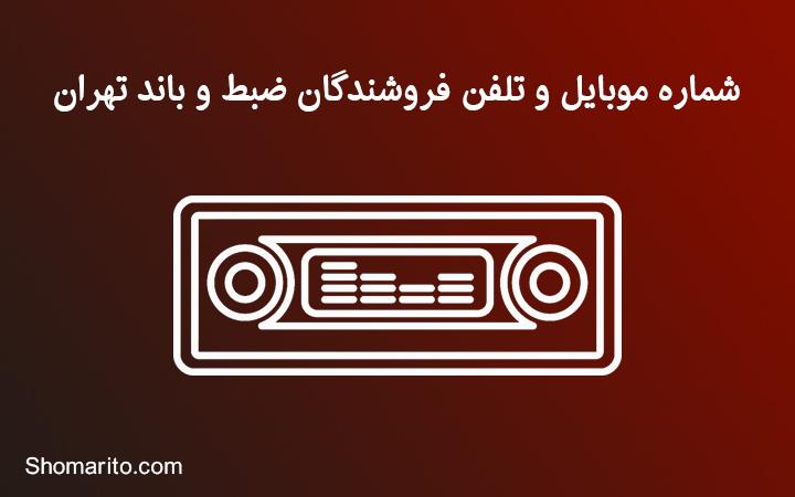 شماره موبایل و تلفن فروشندگان ضبط و باند خودرو تهران